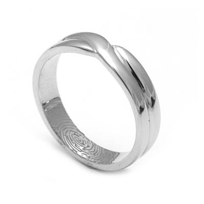 Customized Fingerprint Platinum Love Band