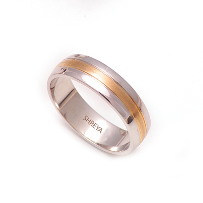Customized Platinum And Yellow Gold Wedding Ring