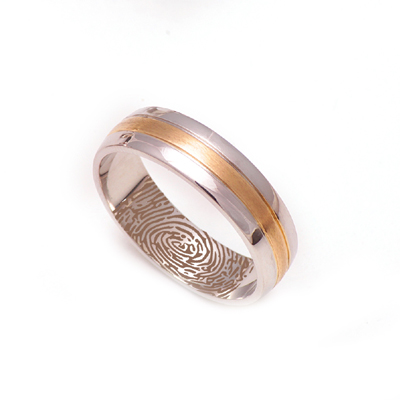 Customized Platinum And Yellow Gold Wedding Ring, platinum jewellery