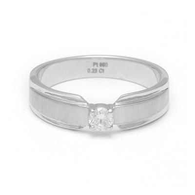 Dual Tone Platinum Fingerprint Diamond Ring, platinum bands for couple