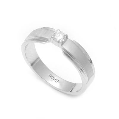 Dual Tone Platinum Fingerprint Diamond Ring, platinum bands for her
