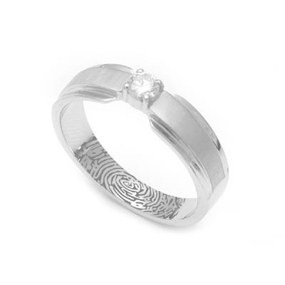 Dual Tone Platinum Fingerprint Diamond Ring, platinum couple rings price