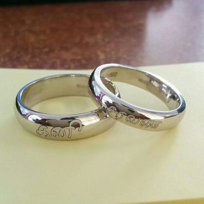 Fingerprint Platinum Rings For Wedding (2)