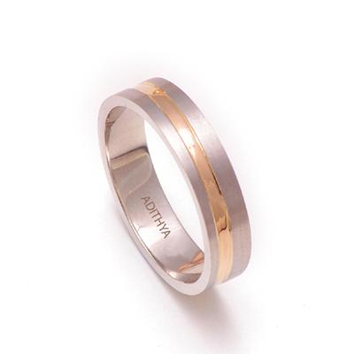 Fingerprint Platinum Gold Men Ring, platinum wedding bands for her