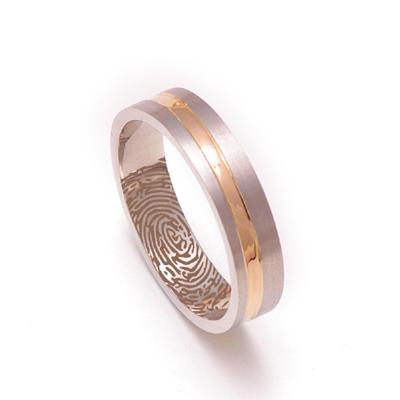 Fingerprint Platinum Gold Men Ring, platinum rings price in rupees