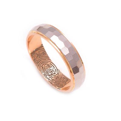 Hammered Finish Hammered Finish Platinum And Rose Gold Ring Platinum And Rose Gold Ring, platinum wedding bands