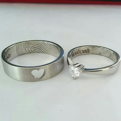 Heart Shaped Diamond Wedding Rings, platinum love bands