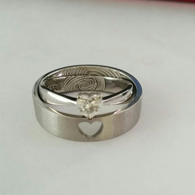 Heart Shaped Diamond Wedding Rings, platinum rings for men