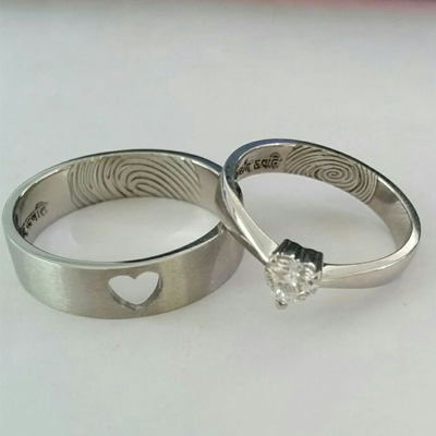 Heart Shaped Diamond Wedding Rings, platinum wedding bands