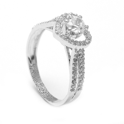 Heart Shaped Platinum Ring With Diamond, platinum couple rings price