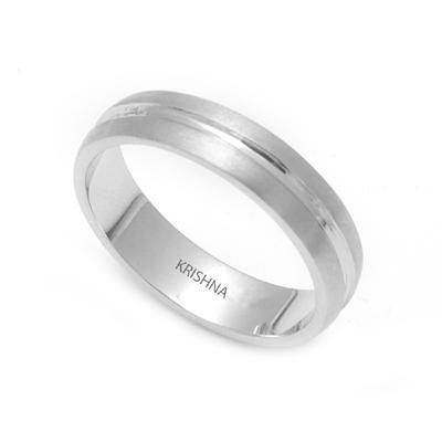 Matte Finish Platinum Fingerprint Rings, platinum jewellery