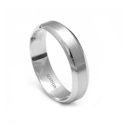 Men Name Engraved Platinum Ring