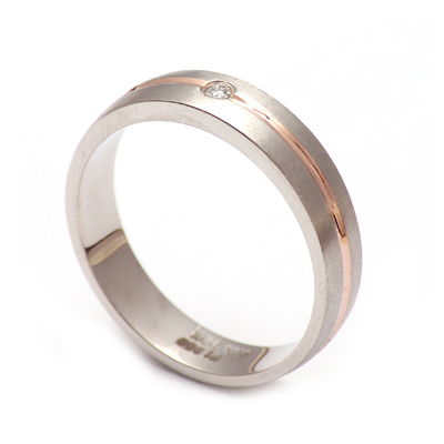 dd5111d77d9 Mens Platinum And Rose Gold Wedding Band