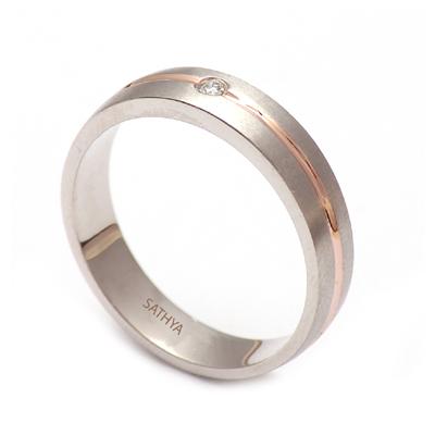 Men Platinum Diamond Fingerprint Ring, love bands for couples
