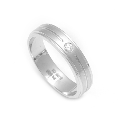Men Platinum Ring In Matte Finish, platinum diamond wedding bands