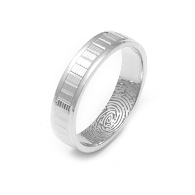 Personalized Name Engraved Platinum Ring