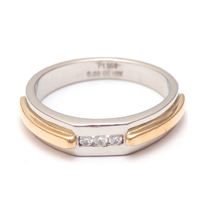 Personalized Platinum Gold Diamond Ring, love bands
