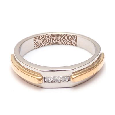 Personalized Platinum Gold Diamond Ring, platinum jewellery