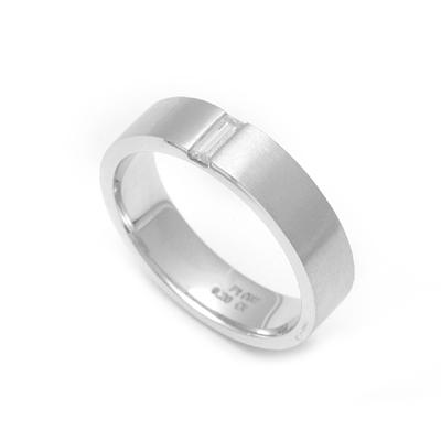 Platinum Baguette Cut Fingerprint Ring, platinum rings for women