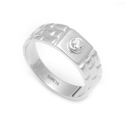 Platinum Diamond Rings With Rectangle Texture, platinum rings price in rupees