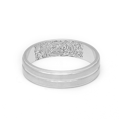 Matte Finish Platinum Fingerprint Rings, platinum ring price