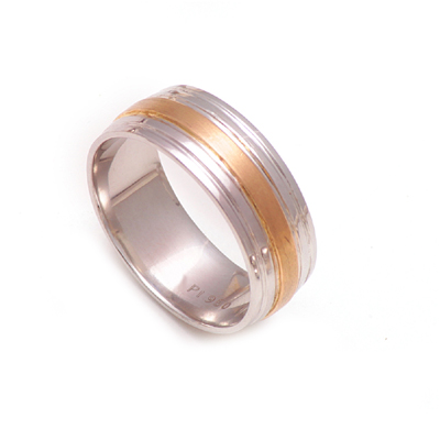 Platinum Gold Wide Ring With SoundWave, platinum couple rings price