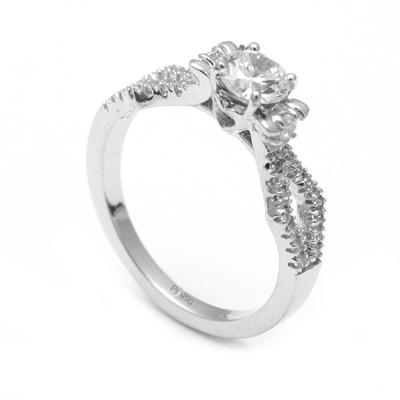 Platinum Love Rings For Women, platinum rings price in rupees