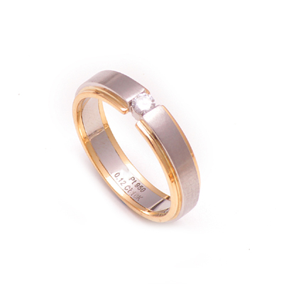 Platinum Men Ring With Diamond, love band ring