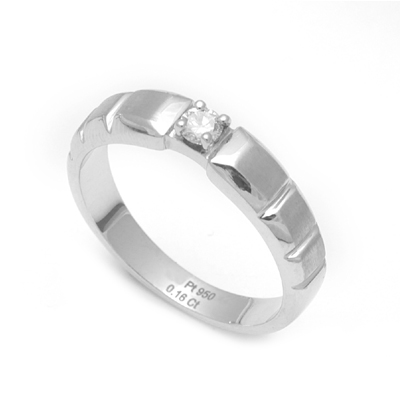 Platinum Ring Model With Diamond, platinum earrings