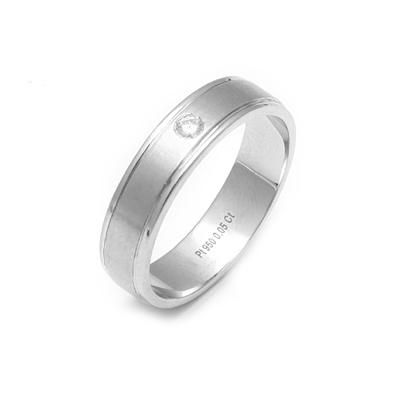 Platinum Solitaire Single Diamond Ring