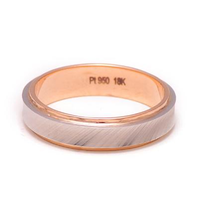 Rose Gold Wedding Ring With Platinum Inlay, platinum rings