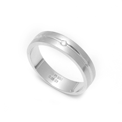 Shiny Platinum Diamond Fingerprint Ring, love bands for couples