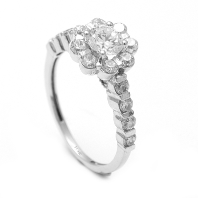 Simple Platinum Flower Rings For Women, love bands for couples