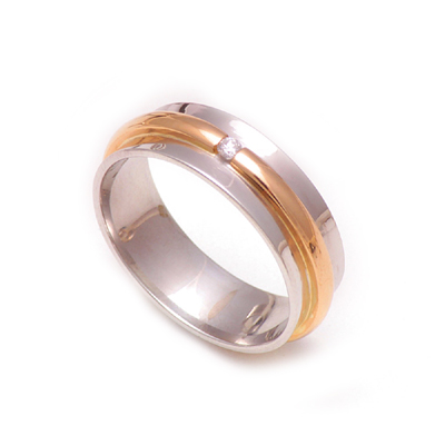 Single Diamond Platinum Rose Gold RIng, platinum rings for women price