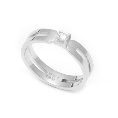 Single Stone Platinum Engagement Ring, platinum bands for him