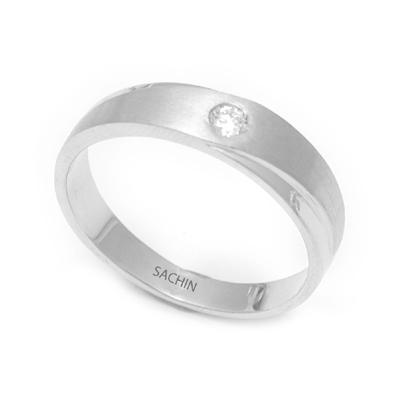 Single Stone Unique Texture Platinum Ring, platinum band ring