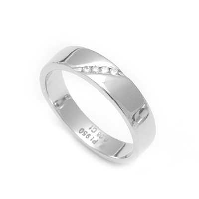 Slanted Diamond Platinum Wedding Ring, platinum ring price