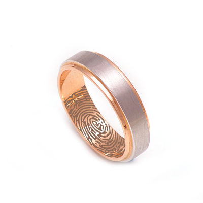Soundwave Platinum Fingerprint Ring, platinum bands for him