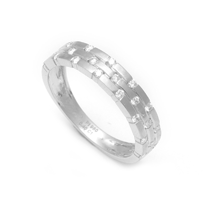 Sparkling Platinum Name Ring With Diamond, platinum love bands