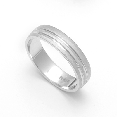 Triple Inlay Custom Platinum Ring, platinum love bands price