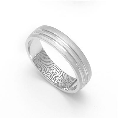 Triple Inlay Custom Platinum Ring, cost of platinum ring