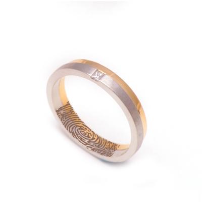 Two Layer Platinum Gold Diamond Ring, platinum band ring