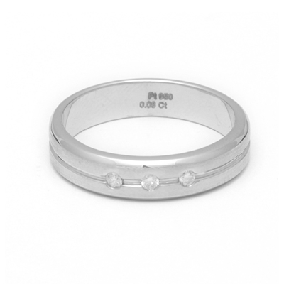 Two Layered Diamond Platinum Ring, platinum rings