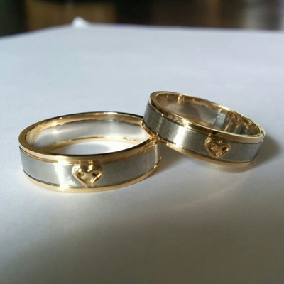 Unique Platinum and Gold Fusion Rings, platinum wedding rings