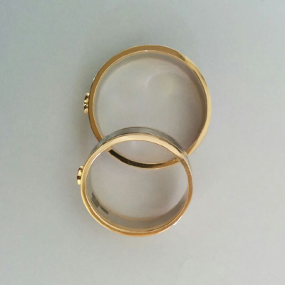 Unique Platinum and Gold Fusion Rings (2)