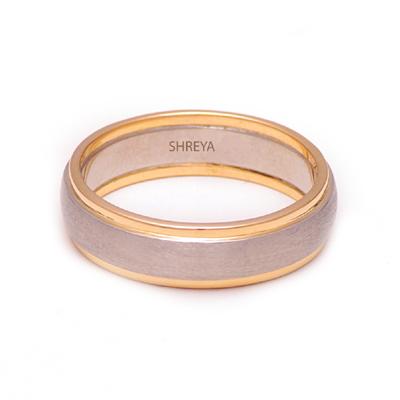 Unique Men Platinum Gold Ring, love band ring