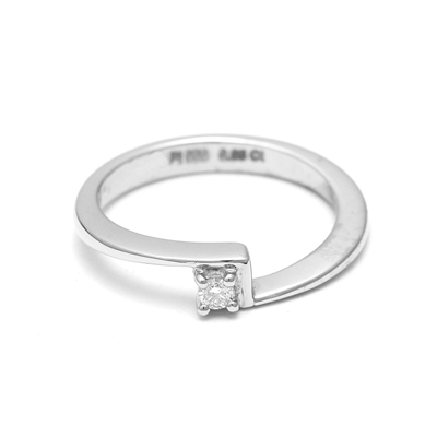 Single Stone Women Platinum Ring, platinum rings price in rupees