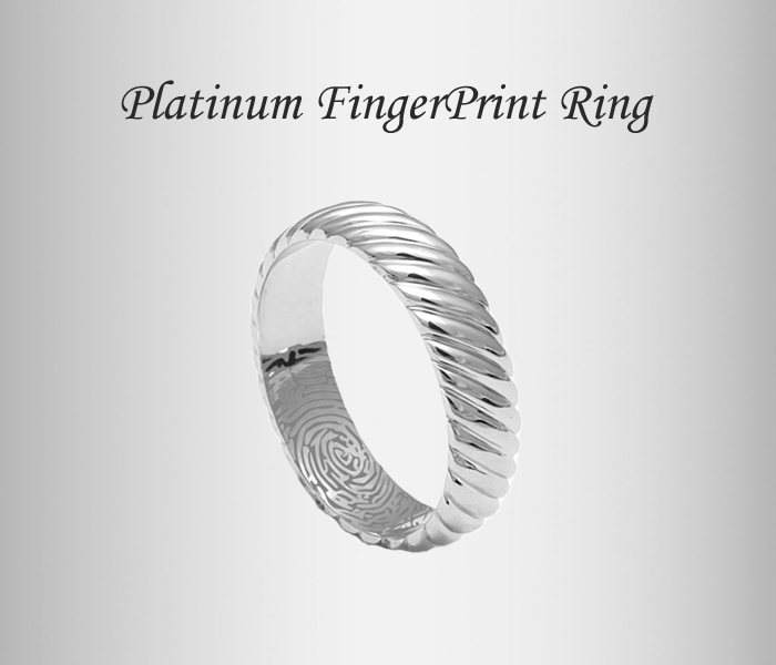 designer platinum rings, love bands