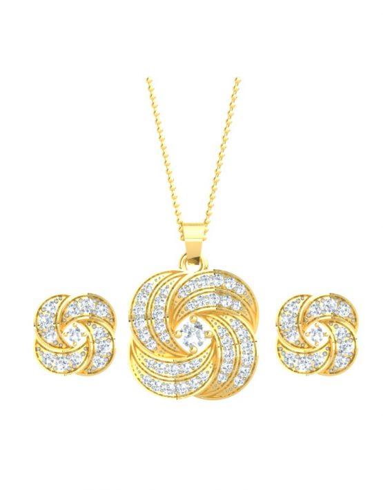 Changeable Pendant Set With Gemstones