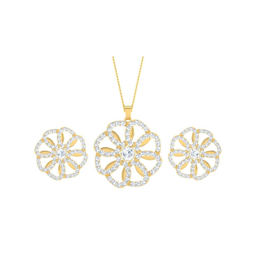 Custom Pendant Set With Interchangeable Gemstones
